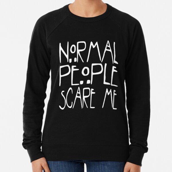 Womens Cheap Slogan Sweatshirt Brooklyn Normal People Scare Me Know Ur Worth Top