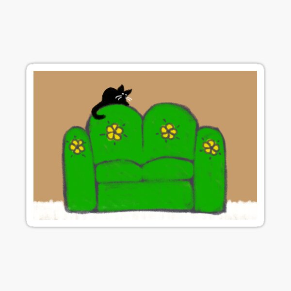 Comfy Couch Sticker