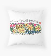 My Redeemer (Job 19:25) Throw Pillow