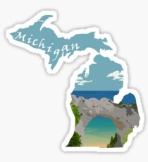 Michigan: Arch Rock Sticker