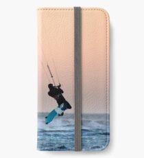 Kitesurfing at Dusk iPhone Wallet/Case/Skin