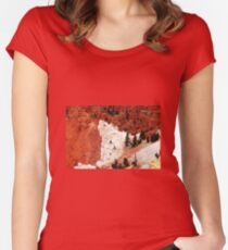 Five roots pointing to Bryce National Park  Women's Fitted Scoop T-Shirt
