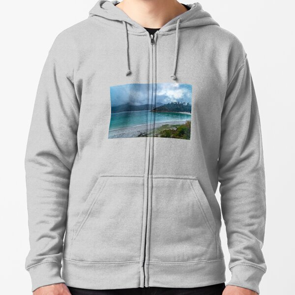 Low Clouds at Wineglass Bay Zipped Hoodie