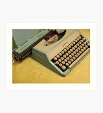 Vintage TAB-O-MATIC Antique Typewriter 1970's Art Print
