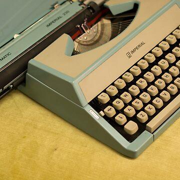 Vintage TAB-O-MATIC Antique Typewriter 1970's by Josh-T