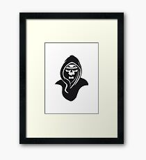 Death hooded sunglasses Framed Print