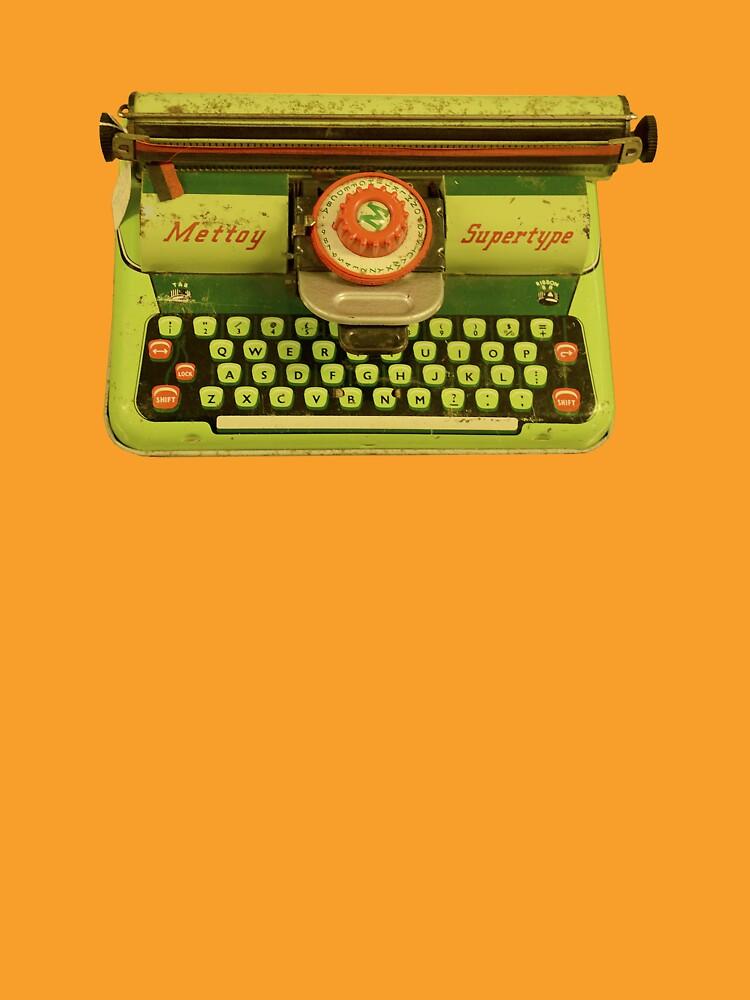 Vintage Tin Mettoy Supertype  Antique Typewriter 1960's by Josh-T