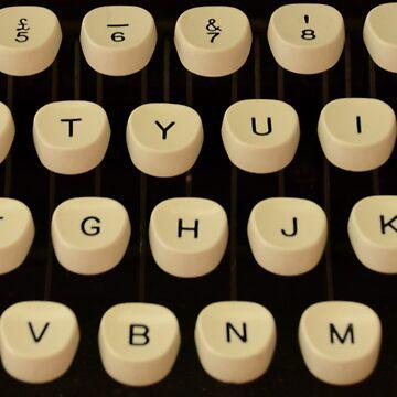 Vintage Zepher Typewriter Keys 1960's Photograph by Josh-T