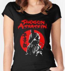 LONEWOLF AND CUB AKA SHOGUN ASSASSIN SHINTARO KATSU JAPANESE CLASSIC SAMURAI MOVIE  Women's Fitted Scoop T-Shirt