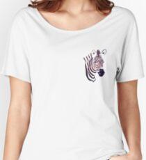 Purple Zebra Spirit Animal  Women's Relaxed Fit T-Shirt
