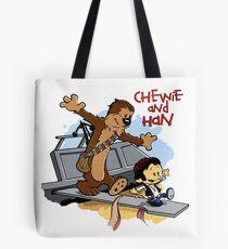Calvin And Hobbes Parody Tote Bag