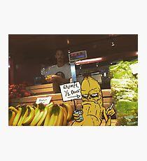 Grumpy Banana Photographic Print