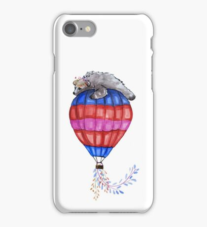 The Bear and the Balloon iPhone Case/Skin