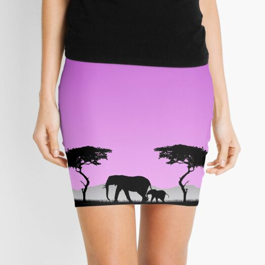 Elephants Mini Skirt