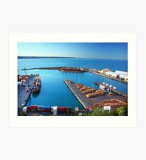 Napier Port, NZ Art Print
