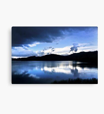 Cloud-break at Lake Tutira Canvas Print