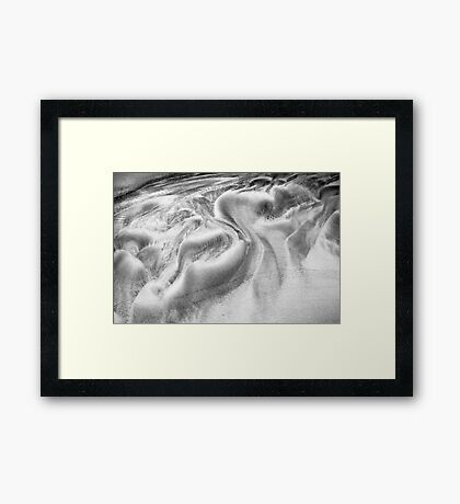 Swirls in Sand Framed Print