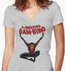 The Amazing Childish Gambino  Women's Fitted V-Neck T-Shirt