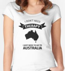 I do not need therapy - I just need to go to Australia Women's Fitted Scoop T-Shirt