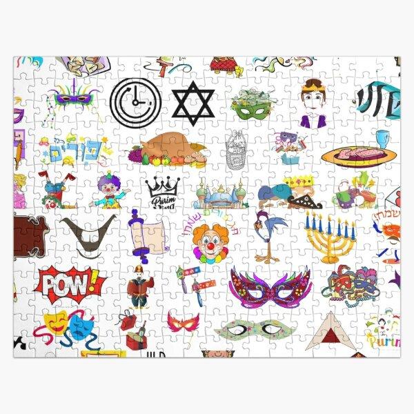 #Purim #clip #art #sketch fun collection cute design snowman Jigsaw Puzzle