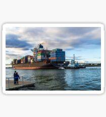 Containerschiff Sticker