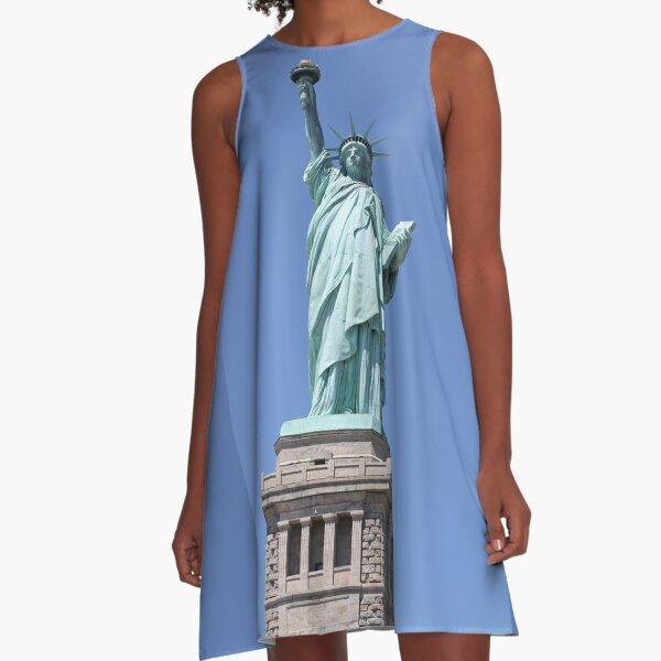 New York, Statue of Liberty, #NewYork, #StatueOfLiberty, #New, #York, #Statue, #Liberty A-Line Dress