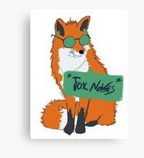 Fox Noises Canvas Print