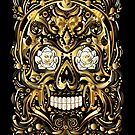 Gold Mexican Skull by candelakis