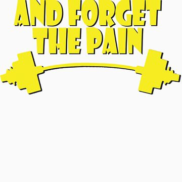 train insane and forget the pain yellow by joba1366