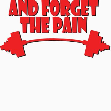 train insane and forget the pain red by joba1366