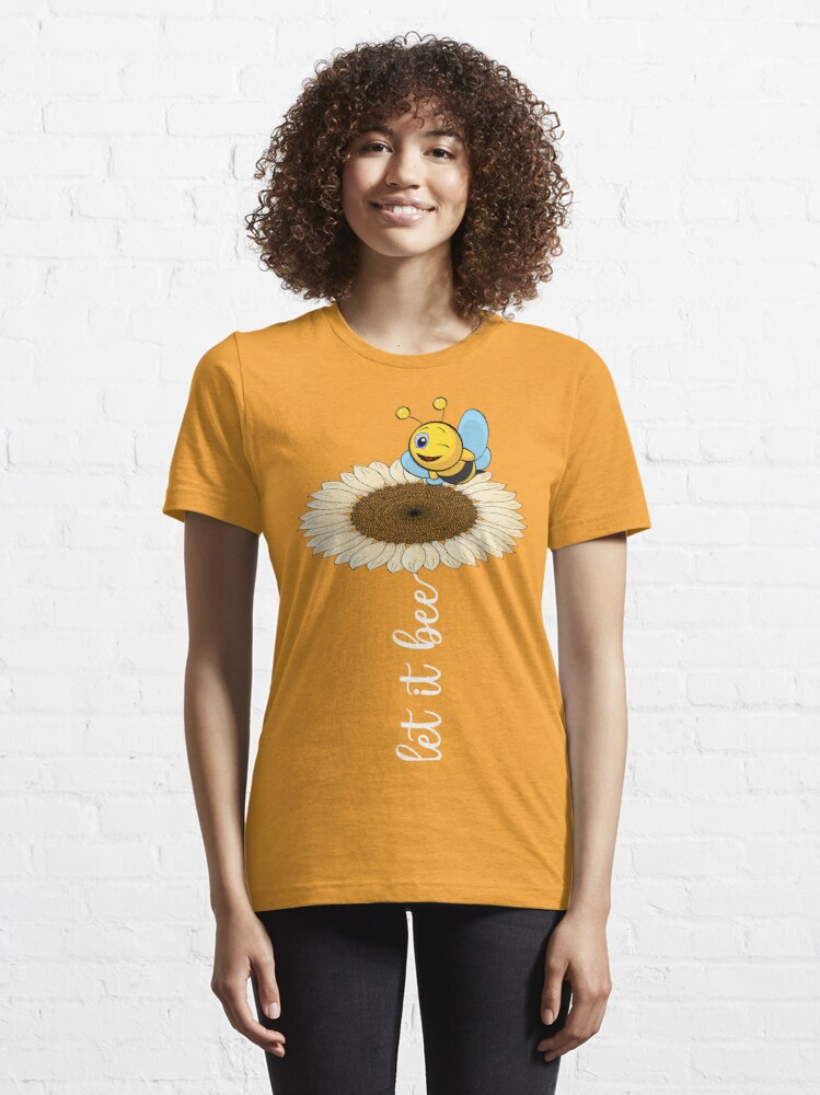 Alternate view of cute wholesome bee hand drawn let it bee bee quote Essential T-Shirt