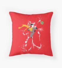 Protoman Paint Explosion Throw Pillow