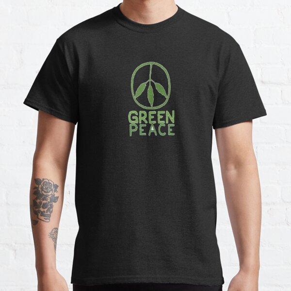 Paix verte. T-shirt classique