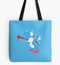 Blue Yoshi Splatter Design Tote Bag