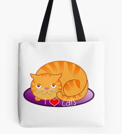Fat Kitty Tote Bag