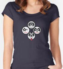 Smile Rock - Kizz Smileys (quadratic) Women's Fitted Scoop T-Shirt