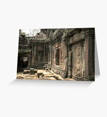 Ta Prohm, Door Greeting Card