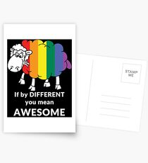 If by DIFFERENT you mean AWESOME Postcards
