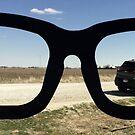 Buddy Holly Glasses With Jeep Cherokee by Elizabeth  Lilja