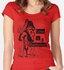 Love is a Battlefield Women's Fitted Scoop T-Shirt