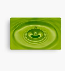 Green Water Drop Canvas Print