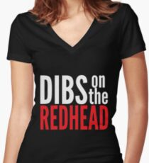 Dibs on the Redhead Women's Fitted V-Neck T-Shirt