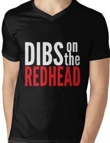 Dibs on the Redhead Mens V-Neck T-Shirt