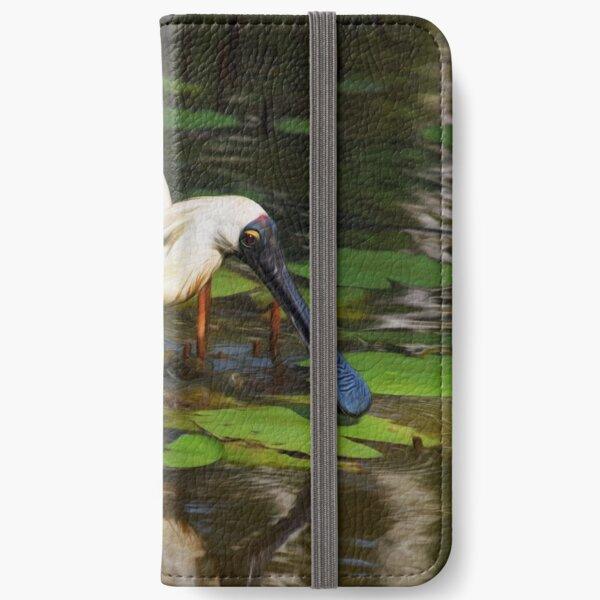 Royal Spoonbill iPhone Wallet