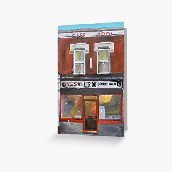 Cafe, Walthamstow, London  Greeting Card