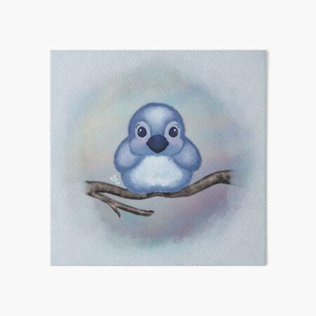 Mr Baby Blue Bird  Art Board Print