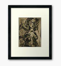 African bust Framed Print