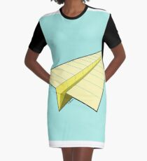 Paper Airplane 10 Graphic T-Shirt Dress