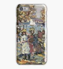 Maurice Brazil Prendergast - Waterside Park Scene. Garden landscape: trees and flowers, blossom, nature view, botanical park, floral flora, wonderful flowers, plants, cute plant, garden, flower iPhone Case/Skin