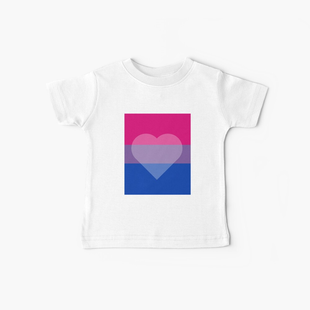 Bisexual Flag + Transparent Heart Baby T-Shirt
